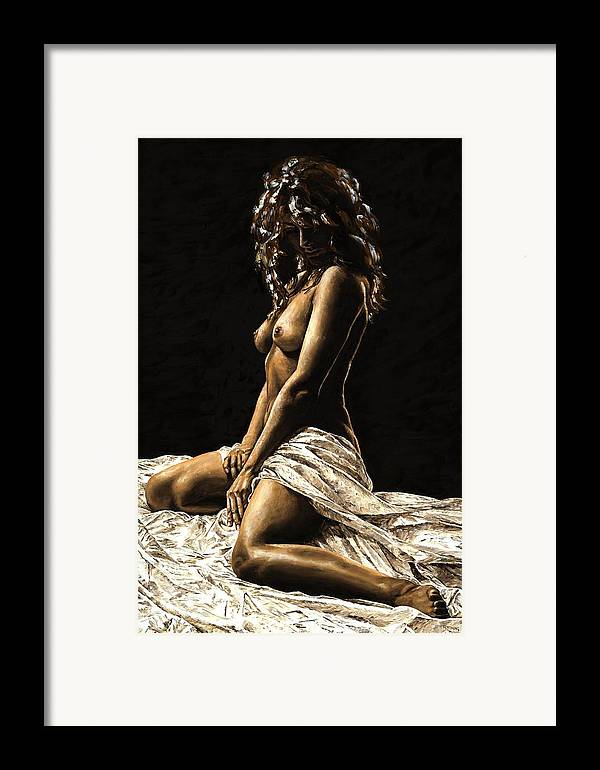 Nude Framed Print featuring the painting Defiance by Richard Young