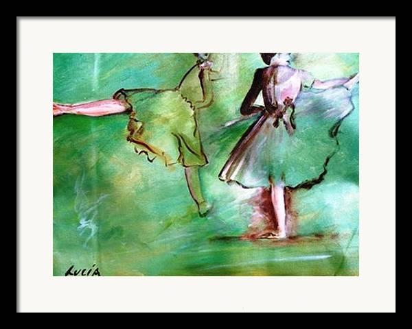 Ballet. Ballerina. Print. Framed Print featuring the print Degas' Dancers by Carl Lucia