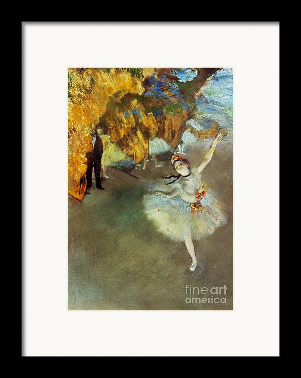 19th Century Framed Print featuring the photograph Degas: Star, 1876-77 by Granger