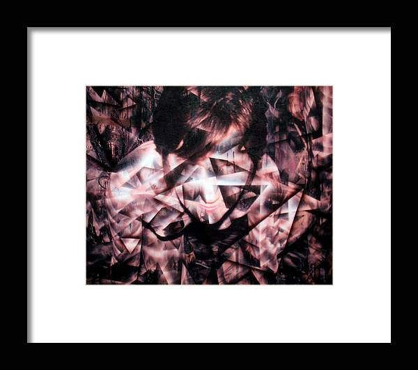 Painting Framed Print featuring the painting Deirdre Shattered by Leigh Odom