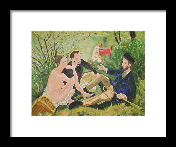 Framed Print featuring the painting Dejeuner Sur L'herbe by Biagio Civale