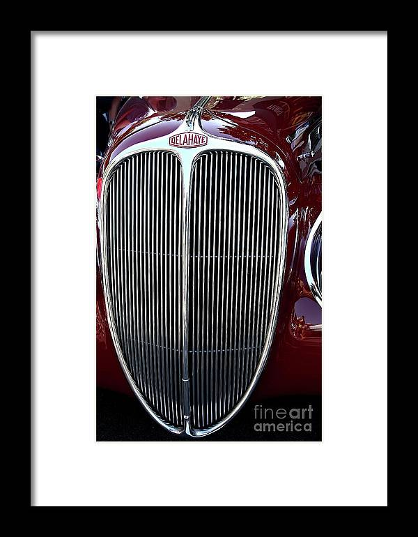 Car Framed Print featuring the photograph Delahaye Grille . 40d9459 by Wingsdomain Art and Photography
