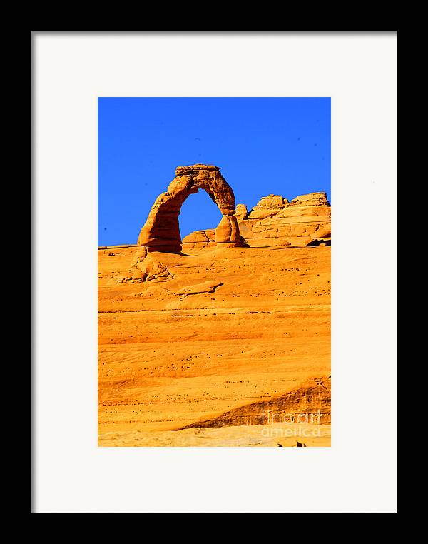 Arches Framed Print featuring the photograph Delicate Arch by Dennis Hammer