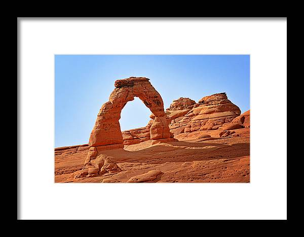 Landscape Framed Print featuring the photograph Delicate Arch The Arches National Park Utah by Christine Till