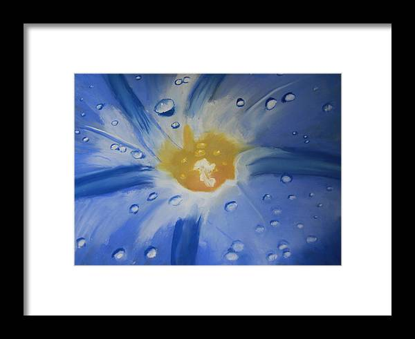 Pastel Framed Print featuring the pastel Delicate Dew by D Turner