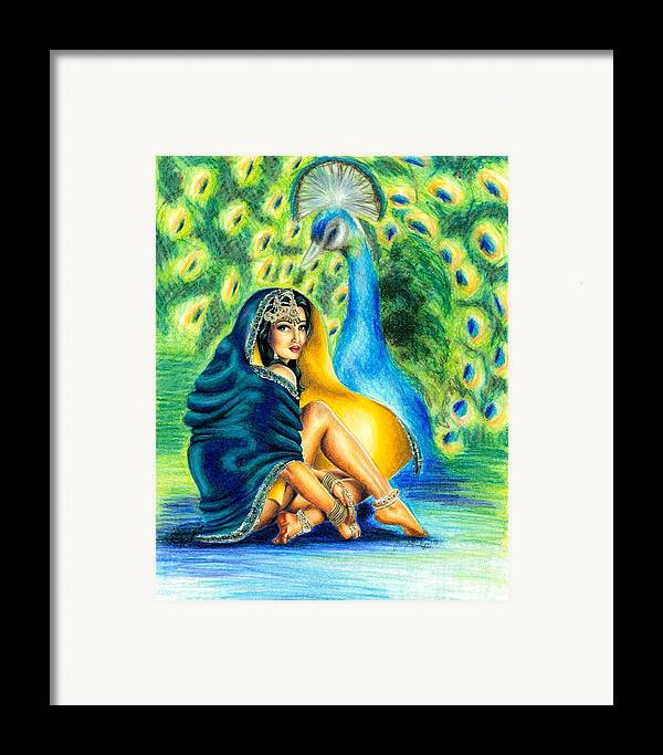 Indian Framed Print featuring the drawing Delicate Feet by Scarlett Royal