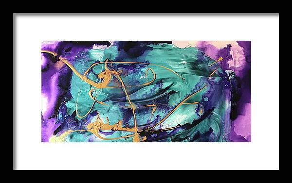 Diptych Framed Print featuring the painting Delight II by Laura Jaffe