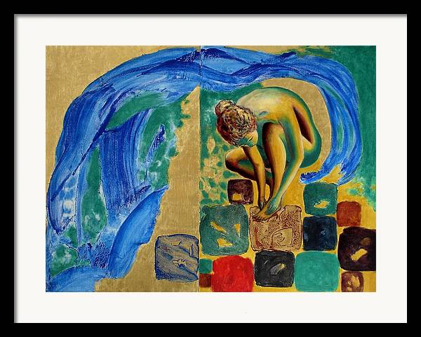 Nude Framed Print featuring the painting Delightful Discoveries by Michael Price