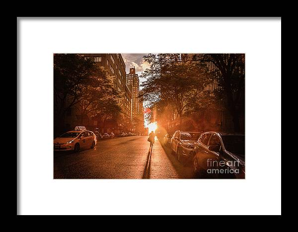 Framed Print featuring the photograph Delivery Man by Reynaldo Brigantty