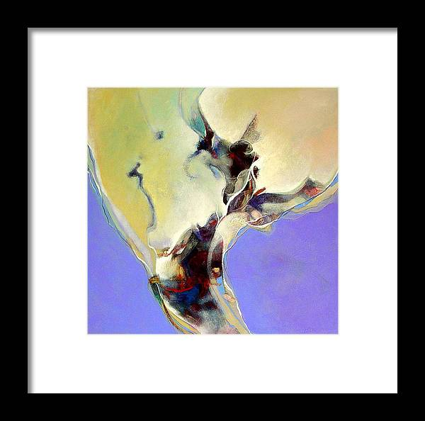 Abstract Framed Print featuring the painting Delta Venus by Dale Witherow