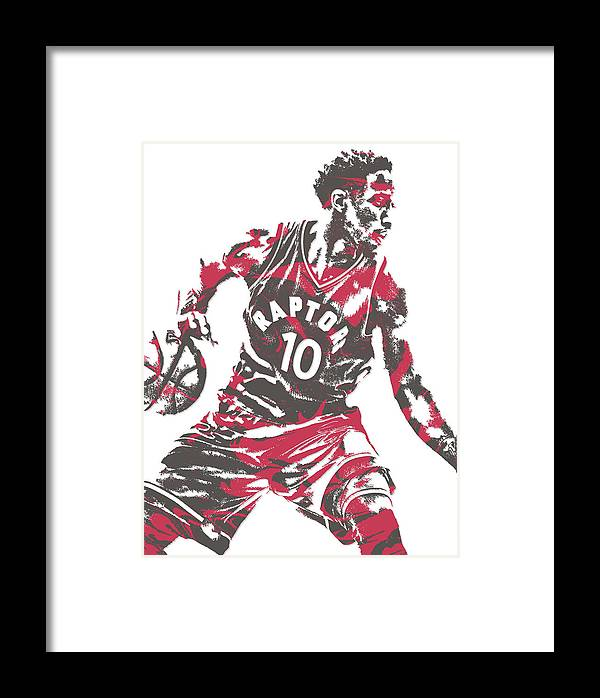 timeless design 29d60 6c836 Demar Derozan Toronto Raptors Pixel Art 6 Framed Print