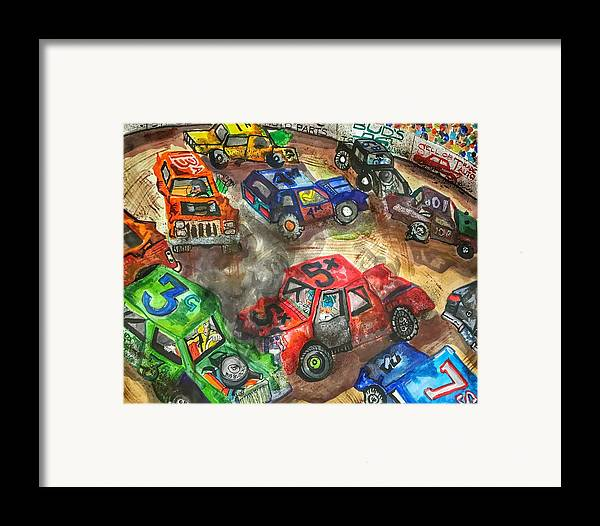 Gm Framed Print featuring the painting Demo Derby One by Jame Hayes