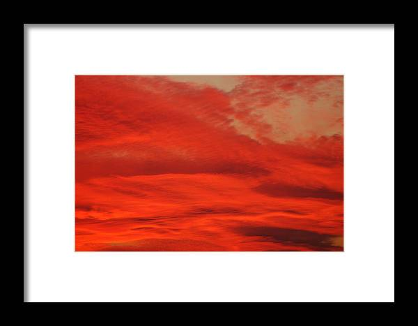 Nature Framed Print featuring the photograph Demon Sky by Paul Gavin