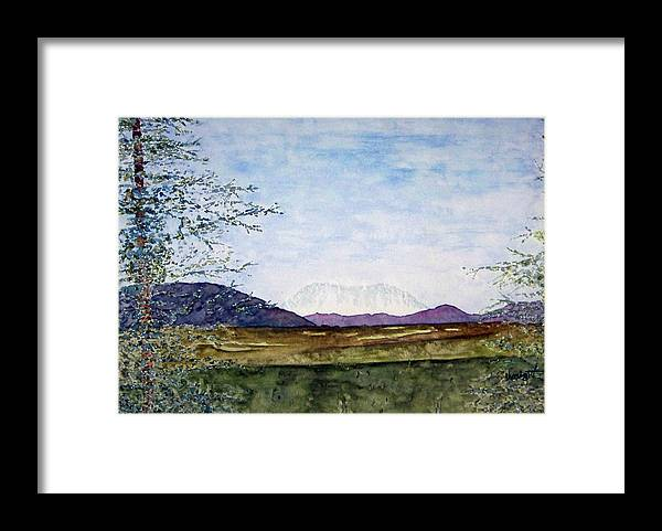 Alaska Art Framed Print featuring the painting Denali In July by Larry Wright