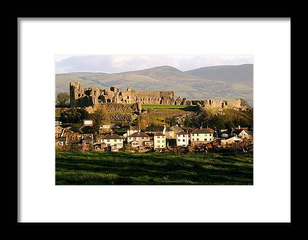 Wales Framed Print featuring the photograph Denbigh Castle by Harry Robertson
