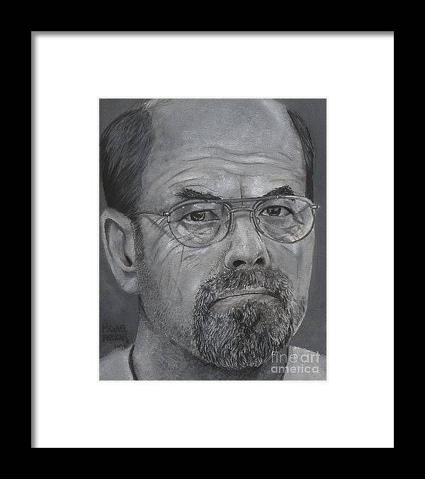 Dennis Rader Framed Print featuring the painting Dennis Rader by Michael Parsons