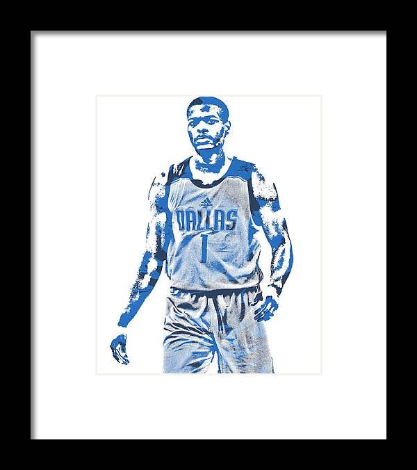 894ed5cfda5 Dennis Smith Jr Framed Print featuring the mixed media Dennis Smith Jr  Dallas Mavericks Pixel Art