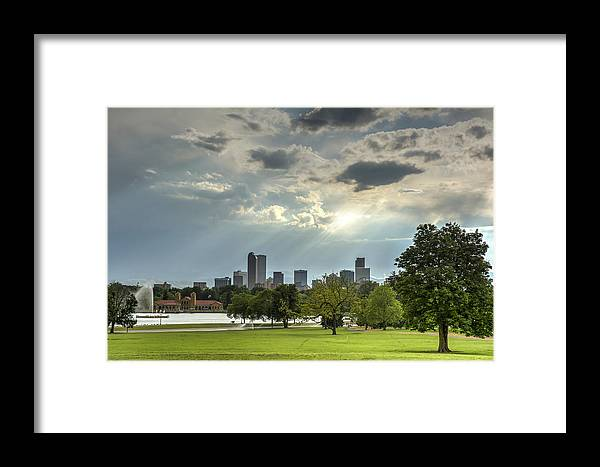Park Framed Print featuring the photograph Denver After The Rain by Joan Baker