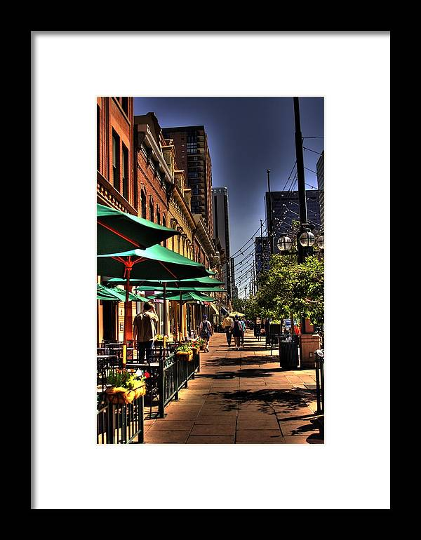 Denver Framed Print featuring the photograph Denver Sidewalk by Laurie Prentice
