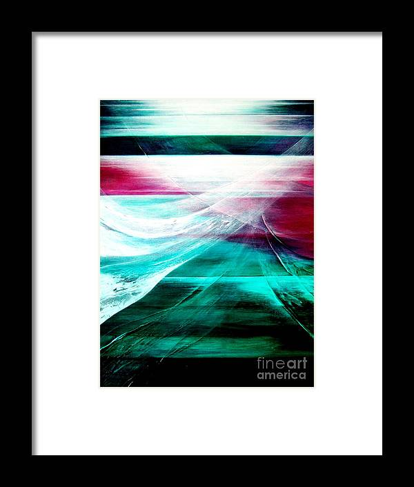 Departure Framed Print featuring the painting Departure by Kumiko Mayer