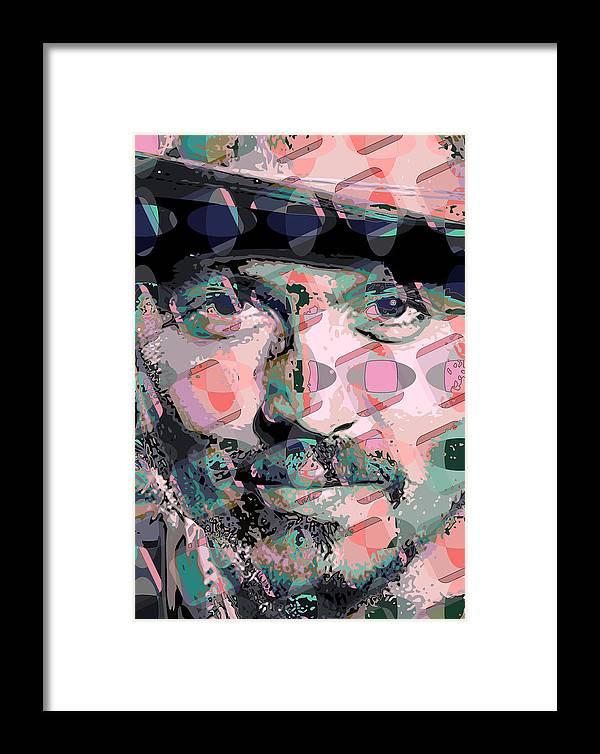 Framed Print featuring the digital art Depp1 by Scott Davis