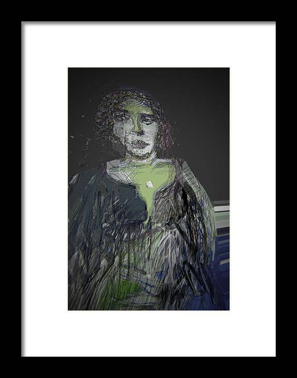 Emptiness Framed Print featuring the painting Depressed by Noredin Morgan