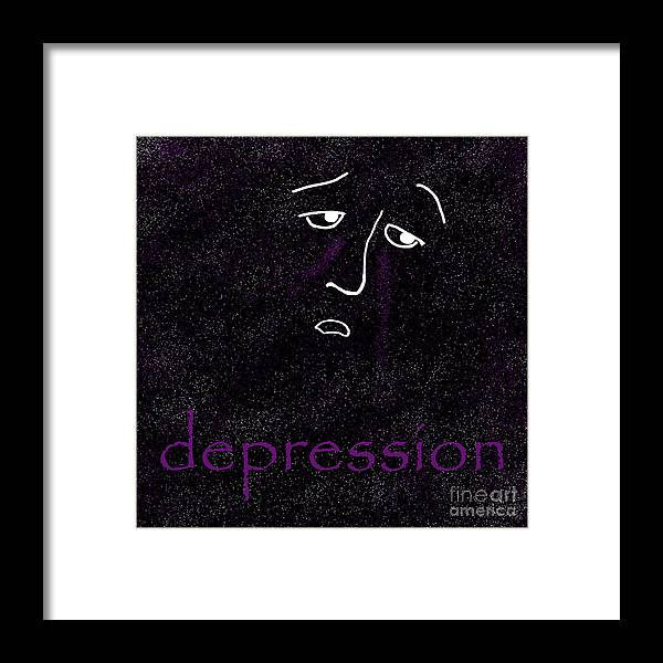 Depression Framed Print featuring the digital art Depression by Methune Hively