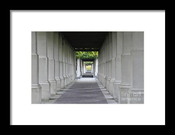 Corridor Framed Print featuring the photograph Depth Perception by Terri LeSaint-Keller