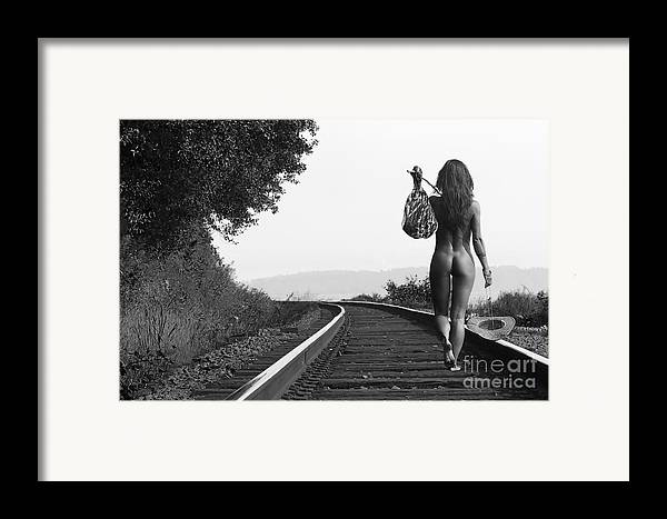 Nude Framed Print featuring the photograph Derailed by Naman Imagery