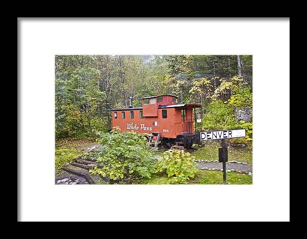 White Pass Line Framed Print featuring the photograph Derailed by Robert Joseph