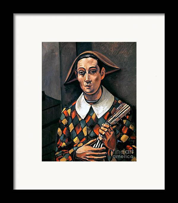 1919 Framed Print featuring the photograph Derain: Harlequin, 1919 by Granger