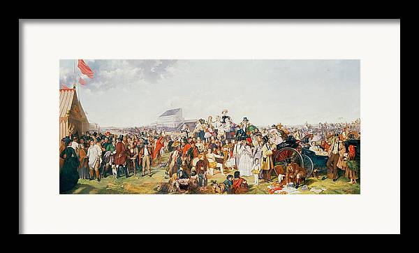 Derby Framed Print featuring the painting Derby Day by William Powell Frith