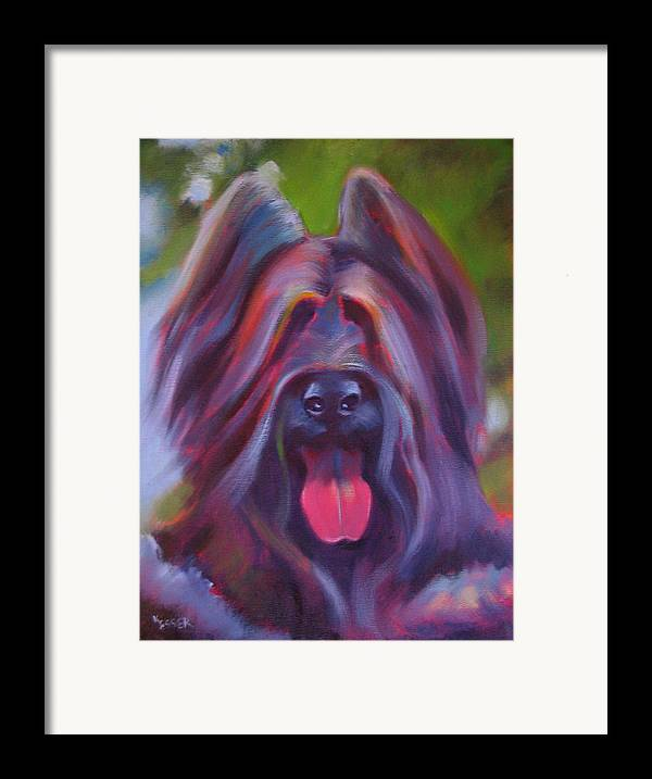 Briard Framed Print featuring the painting Derby by Kaytee Esser
