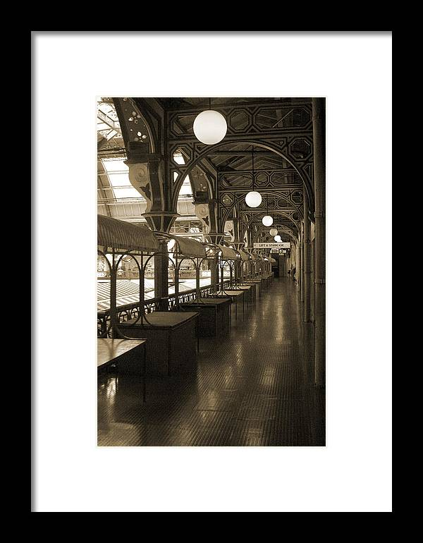 Jez C Self Framed Print featuring the photograph Derby Market 1 by Jez C Self
