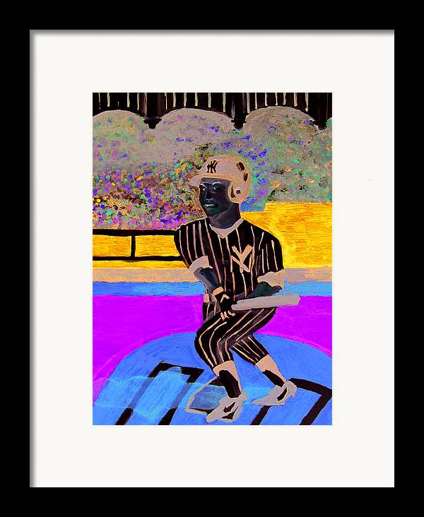 Derek Jeter Framed Print featuring the painting Derek Jeter by Jeff Caturano