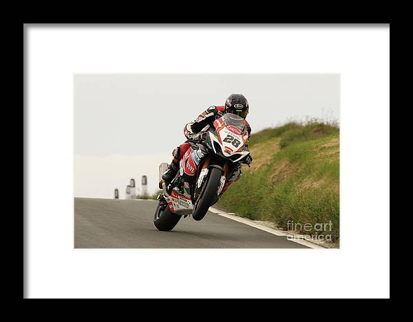 Motorbike Racing Framed Print featuring the photograph Derek Sheils by Richard Norton Church