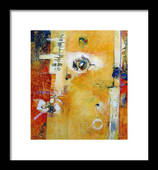 Abstract Framed Print featuring the painting Dervish by Dale Witherow