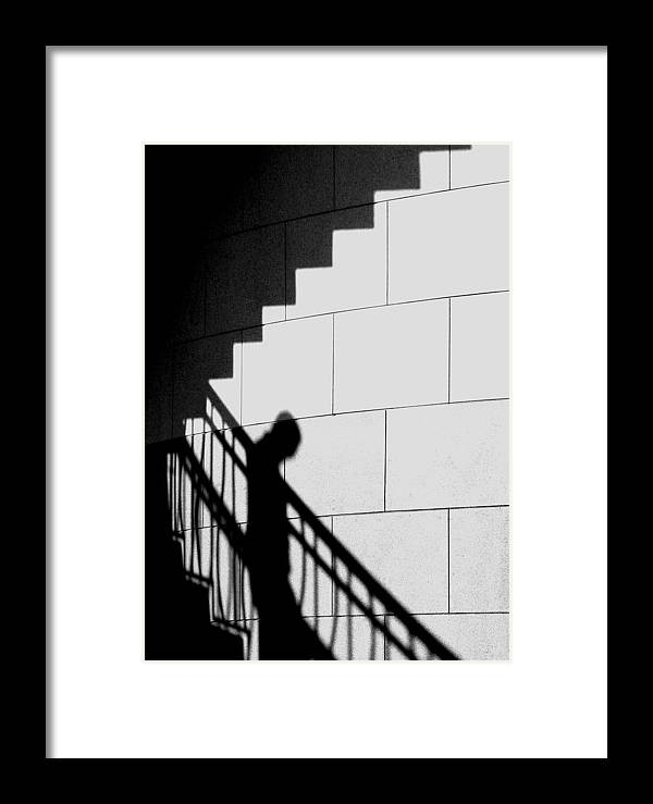 Shadows Framed Print featuring the photograph Descending by Elizabeth McPhee