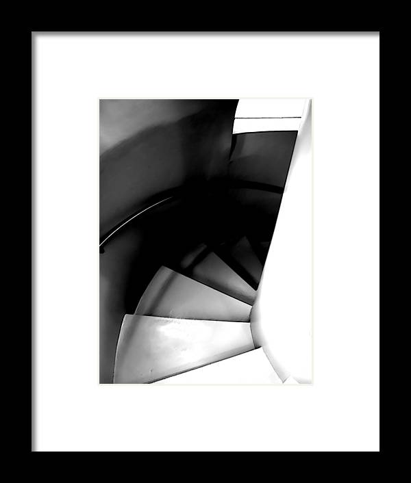 Steps Framed Print featuring the photograph Descent by Jim DeLillo