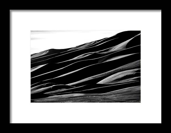 Sand Dune National Park Framed Print featuring the photograph Desert Abstract by Mike Flynn