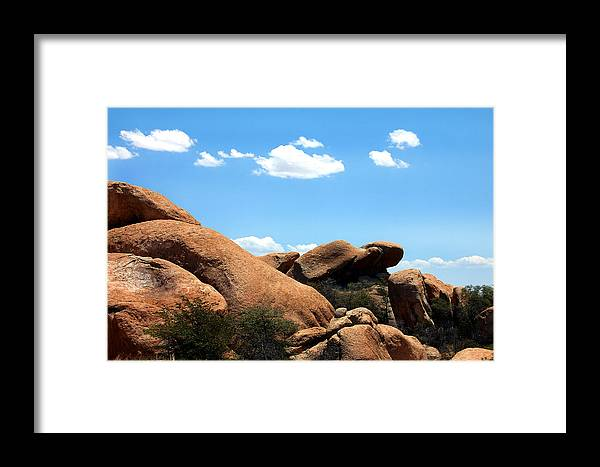 Landscape Framed Print featuring the photograph Desert Ancients by Heather S Huston