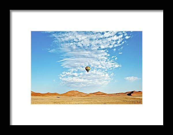 Namibia Framed Print featuring the photograph Desert Balloon by Charel Schreuder
