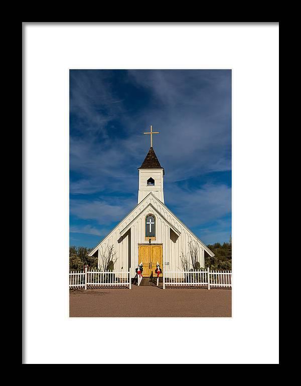 Church Framed Print featuring the photograph Desert Church by Brigitte Mueller
