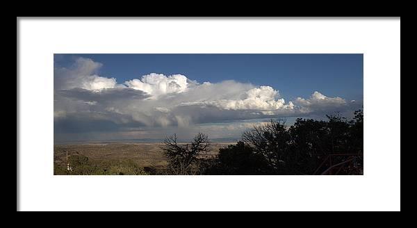 Desert Framed Print featuring the photograph Desert Clouds by Farol Tomson