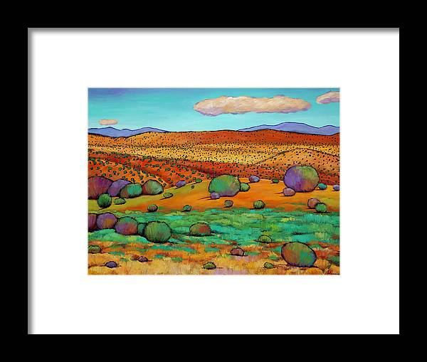 New Mexico Desert Framed Print featuring the painting Desert Day by Johnathan Harris