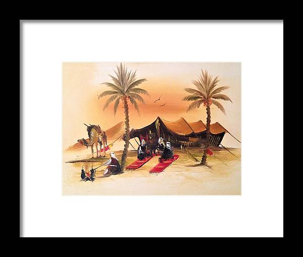 Framed Print featuring the painting Desert Delights by Al Felki