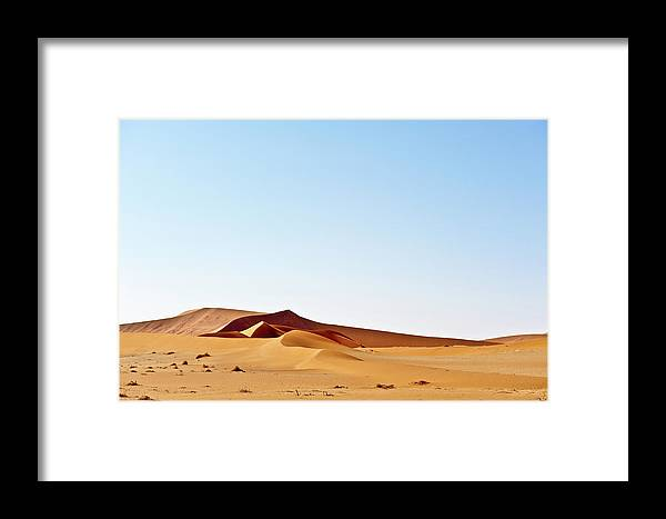 Namibia Framed Print featuring the photograph Desert Dunes by Charel Schreuder
