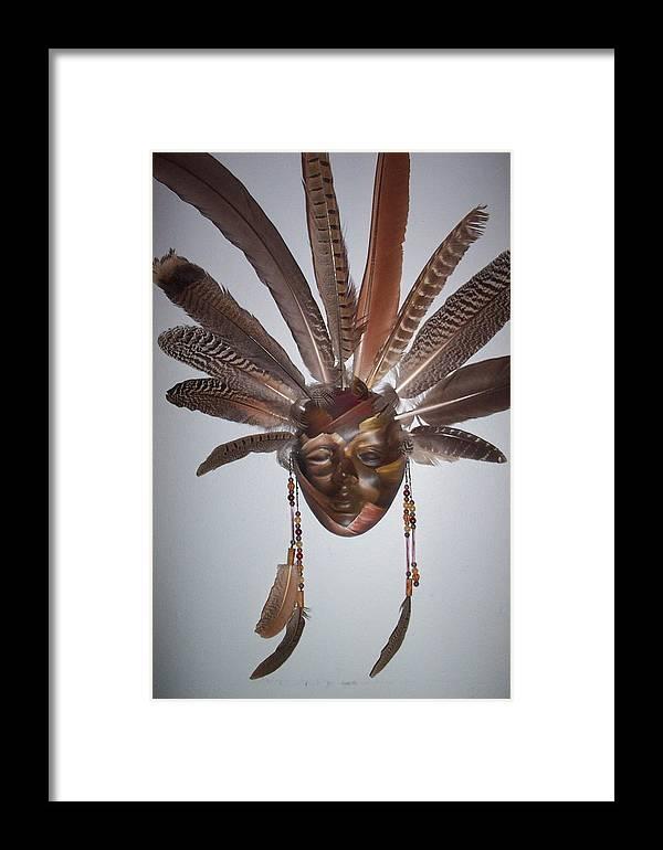 Desert Framed Print featuring the sculpture Desert Face by Angelina Benson