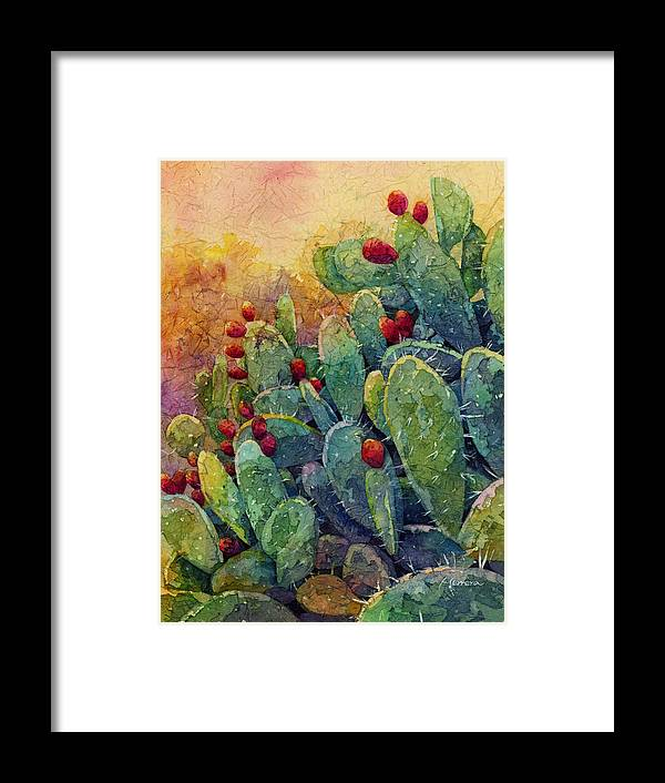 Cactus Framed Print featuring the painting Desert Gems 2 by Hailey E Herrera