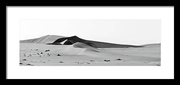 Namibia Framed Print featuring the photograph Desert In Shades Of Grey by Charel Schreuder